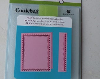 Provo Craft CuttleBug Embossing Folder (with coordinating Border), Pinking Stitch