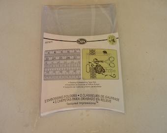 Sizzix Embossing Folders, Sewing & Measuring Tape Set, 657671