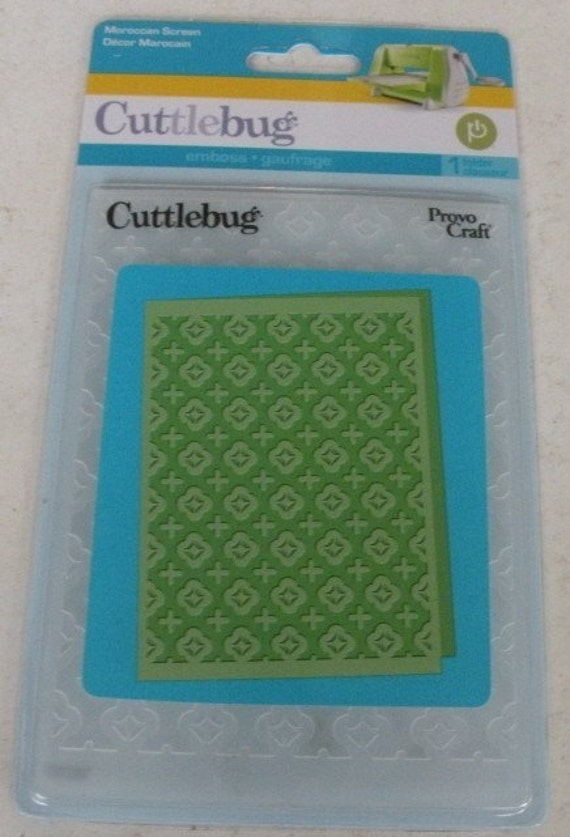 provo craft cuttlebug embossing folder moroccan screen