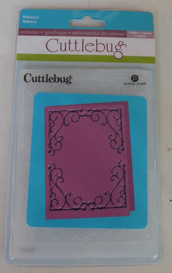 Provo craft cuttlebug a2 embossing folder rebecca for Www cuttlebug crafts com