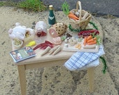 Miniature Christmas prep table 12th scale