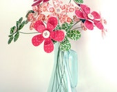 Paper Flower Bouquet - Holiday Festive Christmas