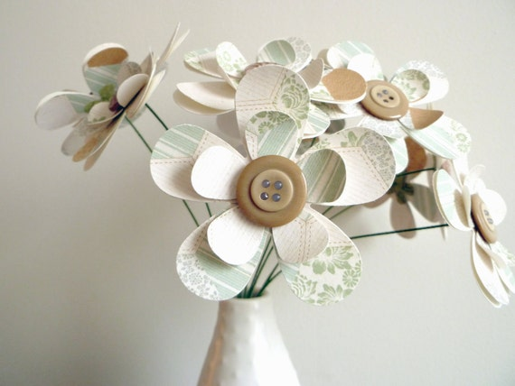 Paper Flower Bouquet - Quilted Pattern