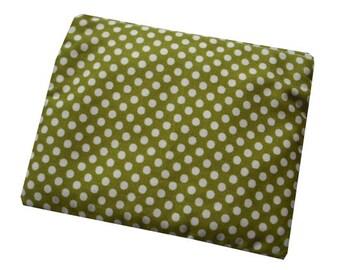 Polka Dot Print Cotton Coin Purse in Green and Cream - Kitsch & Retro