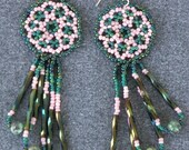 Rose Garden Beaded Earrin...