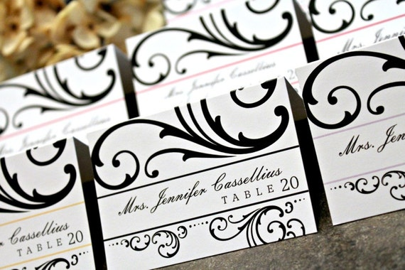 Invites by Jen EDITABLE DIY Printable Place Cards -  Ashley Design - Choose Your Color