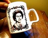 Queen Elizabeth the Second Coffee Mug in a Golden Hue.