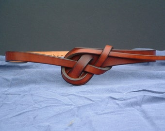 Unique Knotted Leather Belt