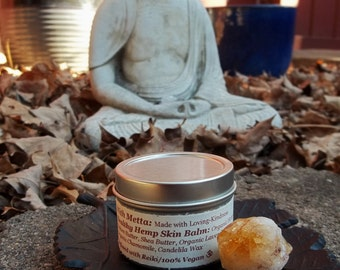 Healthy Hemp Skin Balm with Organic and Fair Trade Ingredients.  100% VEGAN. Reiki infused.