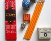 vintage desk or school supplies