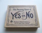 Vintage Parlour Game The Amusing Game of YES or NO made by Parker Brothers
