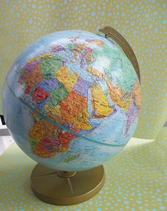 vintage world nation series globe