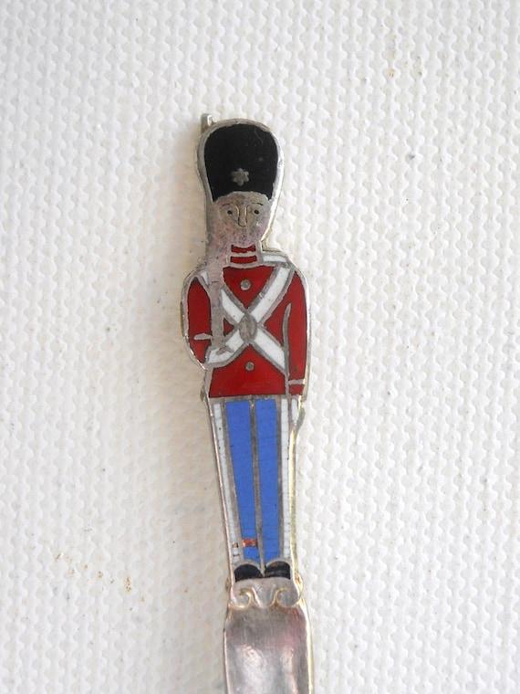 british royal guard enamel and silver spoon