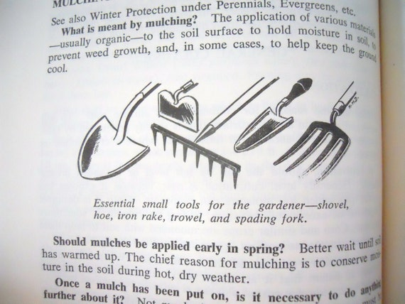 vintage garden book- 10,000 Garden Questions