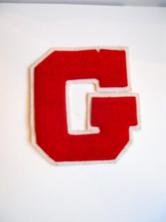 vintage letterman jacket letter G