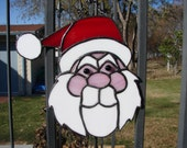 Stained Glass Santa