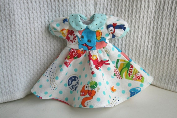 Cartoon Print One piece dress for Blythe Doll - Limited Edition