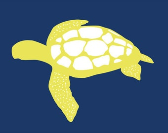 Sea turtle ocean animal decor 13 x 19 modern art print - different colors and sizes available