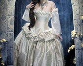 "Unique Wedding Dress Fantasy Gown - Alternative Bridal Masquerade Costume - Renaissance dress - "" Cinderella Wedding Dress "" -  Custom Order"