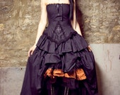 Eco-Friendly Wedding Gown Steampunk  Organic Cotton Victorian Inspired-Custom to Your Size
