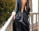 Glamor Hollywood  Gown Bias Backless Wedding Dress in Gunmetal - Custom to your size