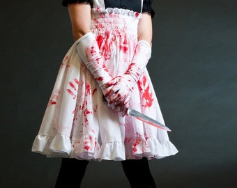 Plus size Psycho Lolita Jumper Zombie Adult Halloween costume -Custom to your size 3X-5X