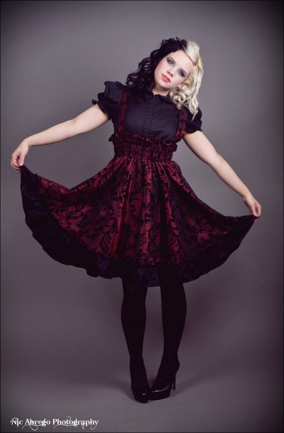 items similar to plus size lolita gothic dress red and