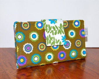 Summer Wallet - Lightweight Fabric - Bright Flowers