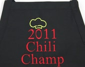 Personalized Dad Chef Apron for Chili Champ- Monogrammed Embroidered