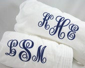 Monogrammed Bridesmaids Gift  Spa Wrap Personalized Embroidered