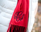 Scarf Personalized Cashmere Feel with Circle Monogram