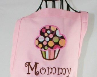Ladies' Personalized Yummy Cupcake Pink Apron