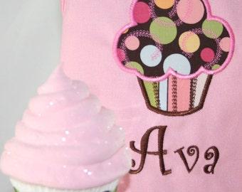 Child's Personalized Yummy Cupcake Pink Apron
