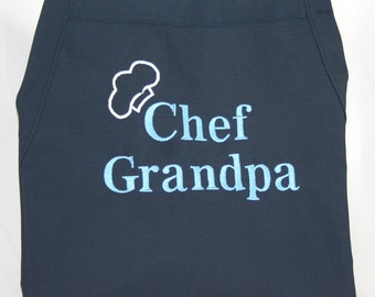 Personalized Men's Apron, Dad Apron, Grandpa Apron, Chef Apron Personalized