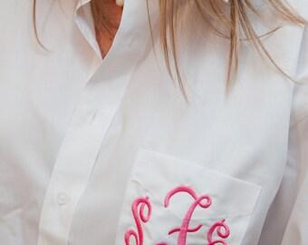 Monogrammed Shirt Bridesmaids Oversized Shirt