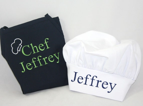 Boy's Personalized apron & chef hat - Embroidered Monogrammed