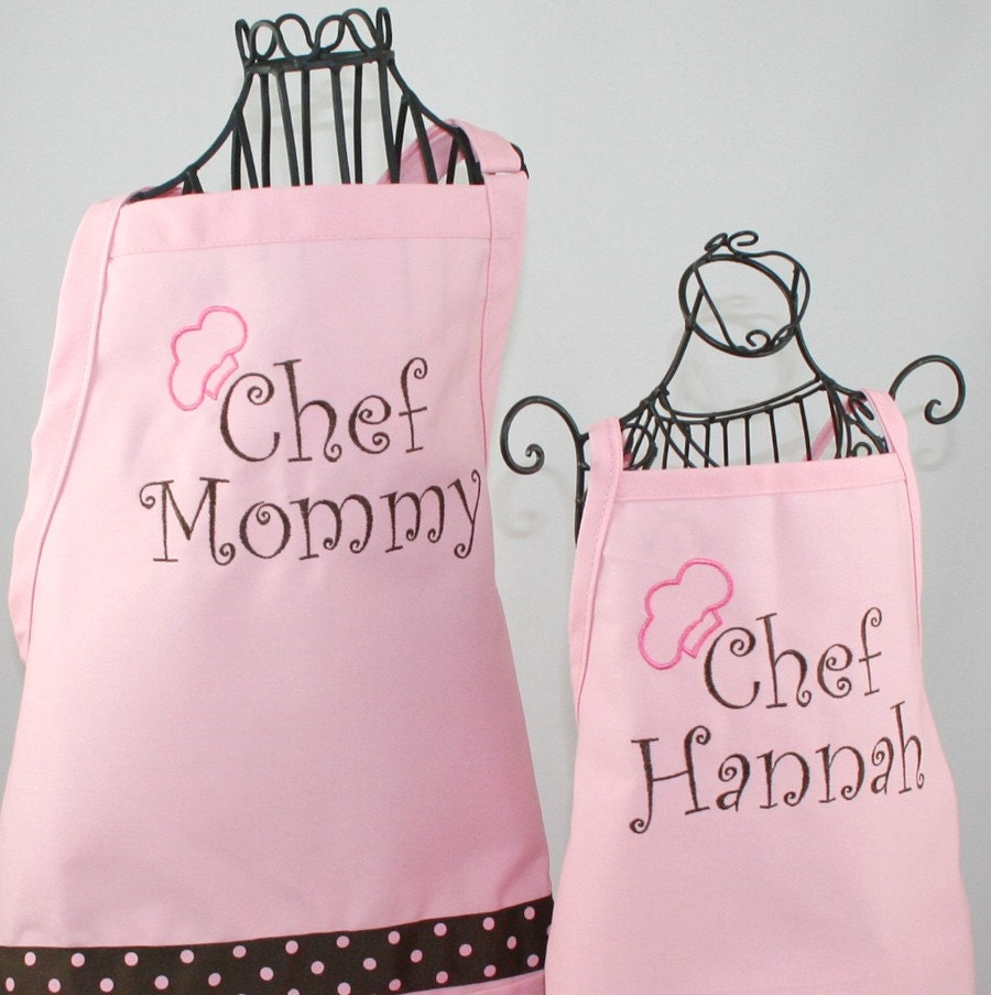 mother daughter apron  u0026 hat gift set personalized chef mommy