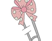 Instant Download- Embroidery Designs- Baby Girl Pins Machine Embroidery Designs