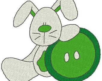 Bunny Buttons machine Embroidery Designs