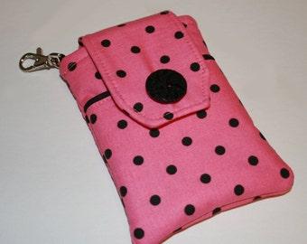 iPhone case, Smart Phone case, 4G case,  Droid case, iPod case, iPhone 4 case, iPhone 4s case, iPhone Sleeve, Pink Black Polka Dots