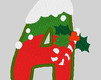 Christmas Alphabets Machine Embroidery Designs
