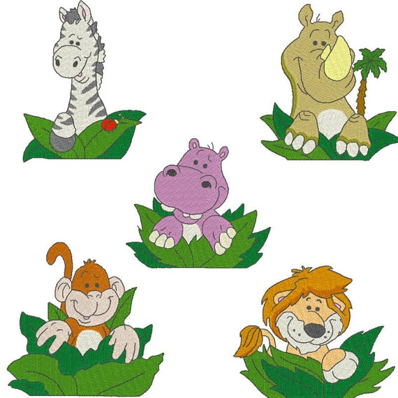 Pocket Zoo Animals Machine Embroidery Designs From Cjcreativedesigns On Etsy Studio