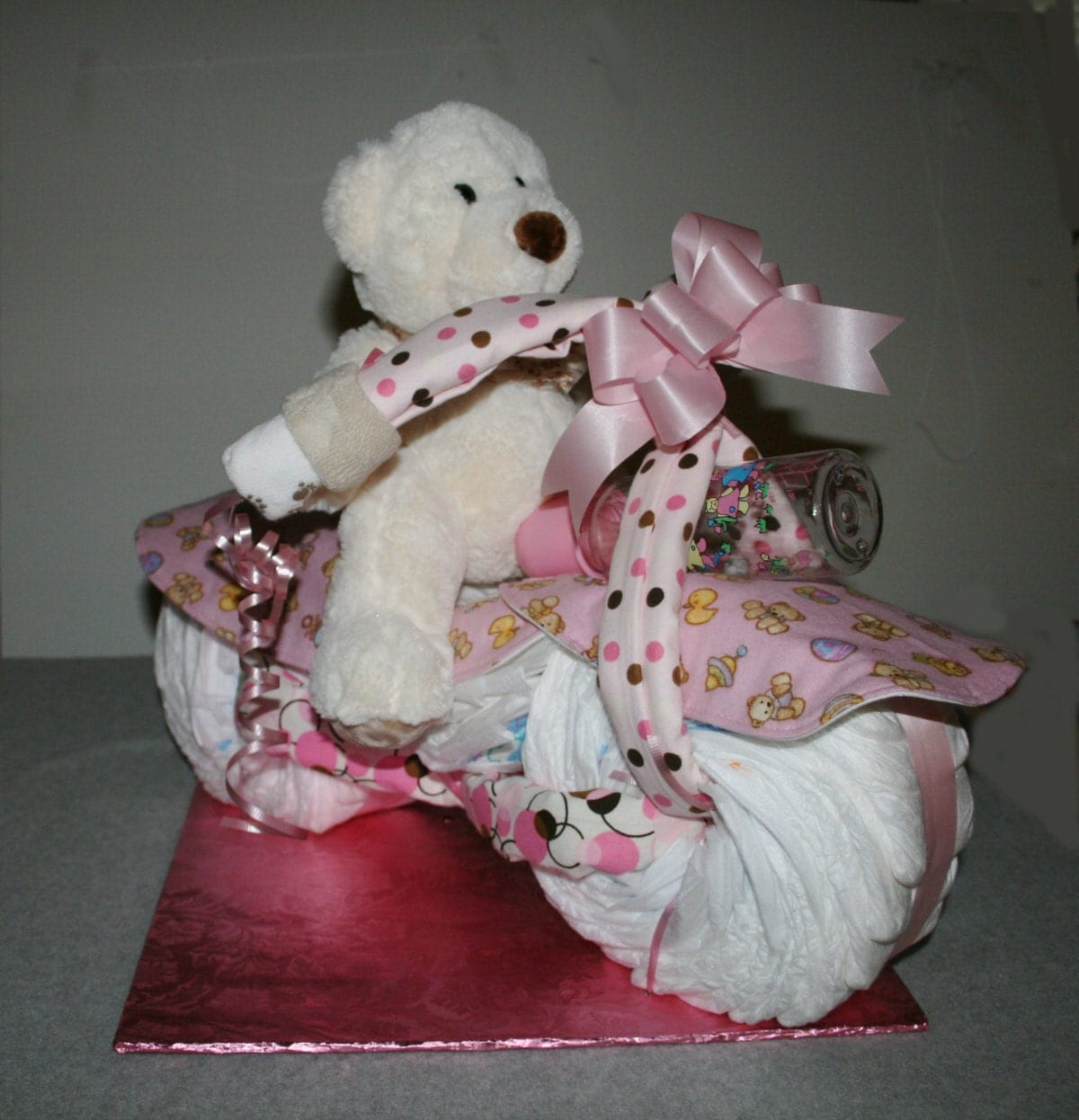 Bicycle Diaper Cake Instructions