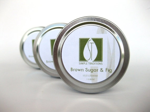 Brown Sugar and Fig Lotion Bar