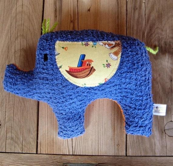 Dave  Plush Vintage Chenille Elephant