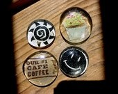Cupcake and coffee lovers magnet set