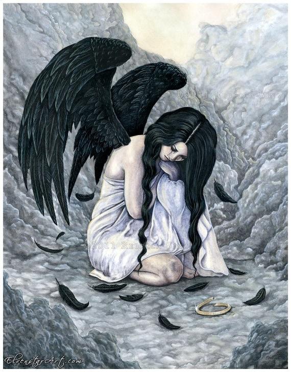 fantasy art angel sad - photo #7