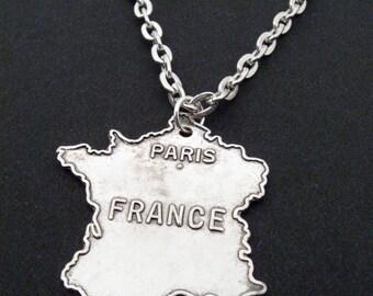 Allons enfants de la patrie - France charm necklace