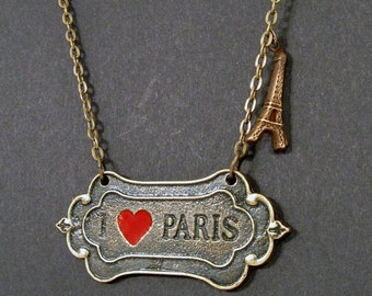 Paris, je t'aime - I love Paris necklace