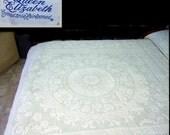 Bates Queen Elizabeth heirloom jacquard bedspread full size spring green